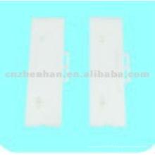 95 milímetros brancos de plástico slat verticais cabide-verticais componentes cego, acessório de cortina