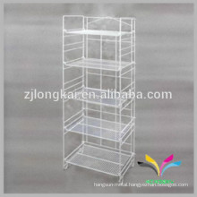 Best selling floor stand wire beverage bottle display rack