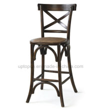 Retro Wooden X Back High Dining Chair Without Armrest (SP-EC457)