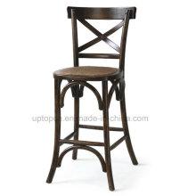 Retro de madera X Volver comedor de alta silla sin apoyabrazos (SP-EC457)