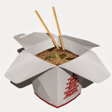 Paper Take-Out Boxes - Noodles - Kraft