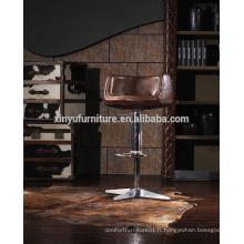 Chaise haute tabouret de bar en cuir A619