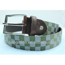 Trend 2014 fashionable acquard ribbon custom canvas belts for men