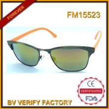 Nouveau Design métallique Lunettes de soleil avec Logo personnalisé en Chine FM15523