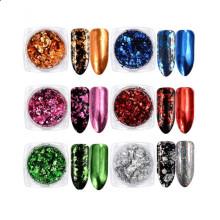 Новый продукт Платиновые чешуйки для ногтей / Многоцветные платиновые фейерверки