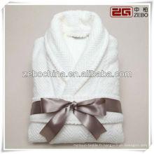 Vente chaude de châle blanc de luxe en coton en gros