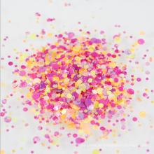 Runde Form-Mischungs-Punkt-Paillette gemischte klumpige Glitter-Flocke