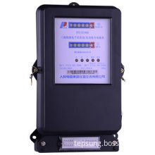3-phase 4-wire Electronic Active and Reactive Combined Energy Meter, Double Register Display