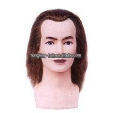 Cabeça de treinamento de cabeleireiro de cabelo humano 100% real