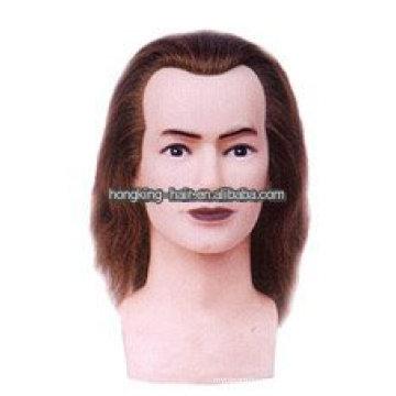 100% vraie tête de formation de coiffure de cheveux humains