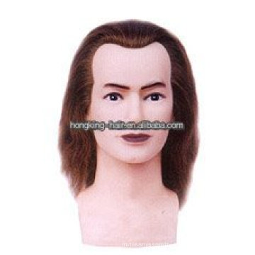 100% Real Human Hair Hairdressing Training Head