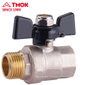 Good price FxM thread Butterfly handle brass valve Dn25