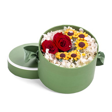 Customized luxury round paper flower box