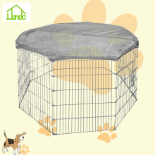 Backyard metal galvanized folding pet dog playpen with cover