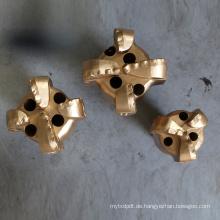 Gestufter Diamant Wolframcarbid Einsatz 4 Flügel 152,4 mm PDC ziehen Bits