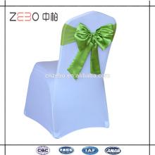 Décoration de mariage en satin de couleur en satin Chapeaux de chaise Bowknot d'occasion