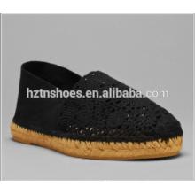 2016 Summer Breathable Espadrille Shoes Crochet Lace Flat Shoes