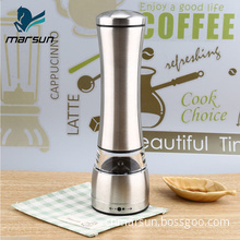 New arrivals 2018 amazon kitchen premium gifts mini portable stainless steel electric salt and pepper mill grinder