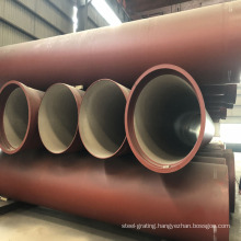Manufacturers supply C40 ductile iron pipes with large and small caliber longitudinally welded pipes