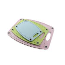 Placa de corte da cozinha plástica da placa de desbastamento 3PCS mini