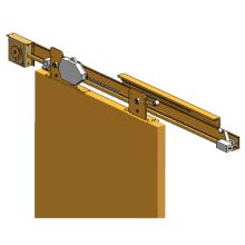 Semi-auto sliding door for interior wood door