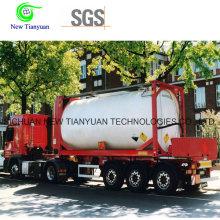 LNG 0.6-1.6MPa Presión de Trabajo Semirremolque de Tanque Ligero