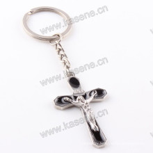 New Handmade Products Black Enamel Rosary Keychain Religious Craft