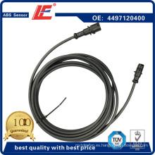 Auto ABS Sensor Truck Sistema de frenos antibloqueo Transductor Indicador Sensor Cable de conexión 4497120400, 0867636, 096.266, 2260117, 5.20160 para Iveco, Daf