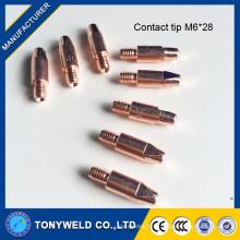 Welding contact tip M6X28 for Binzel 25AK mig torch