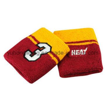Barato Algodão Terry esportes Wristband / Headband