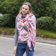 Las mujeres de moda de algodón suave impreso chal viscosa señora de la moda de lentejuelas Paillette bufanda fábrica china