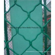 2016 высокое качество оцинкованная цепь ограждения/ПВХ покрытием используются цепи ссылка забор для продажи