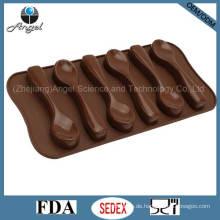 6-Löffel Silikon Schokoladenform Eiswürfelbehälter mit FDA genehmigt Si11