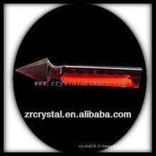 K9 Unique pendentif lustre en cristal rouge