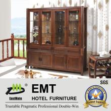 Living Room Glass Door Wooden Wine Cabinet (JZ-C-3003)