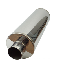 3.5inch outlet Universal Stainless Steel Chrome Exhaust Muffler Pipe