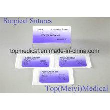Chirurgische Naht / Naht mit Nadel absorbierbare Naht Polyglaktin 910