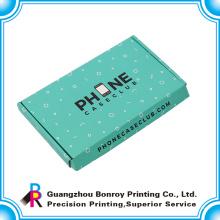 Caja de envío de encargo reciclada colorida colorida de la muestra libre corrugado