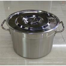 Seau à soupe en acier inoxydable avec MOQ bas 30cm / 60cm / baril américain