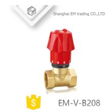 EM-V-B208 Messing manuelle 2-Wege-Doppelheizregulierung Heizkörperventil