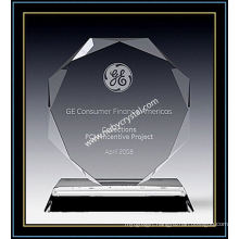 "Crystal Octagon Award Plaques 6"" H (NU-CW693)"