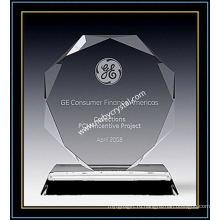 """Награда Кристалл восьмиугольник плакетки 6"""" ч (ну-CW693)"""