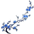 Violet Cherry Blossom Flowers Patch bordado