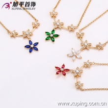 42141-Xuping New fashion flower women jewelry necklace charm