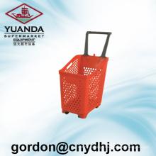 New Design Plastic Shopping Pull Basket Zc-18