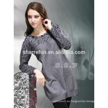 fábrica personalizada varios estilos mujeres 100% suéter vestido de cachemira