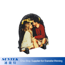 Mother′s Day Gift Sublimation Customized Blank Semicircle Rock Slate Photo Frame