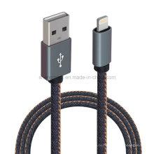 Сведения джинсовая USB зарядный кабель для микро 5pin