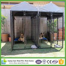 Billiger doppelter rostfreier Metallstahl-Hundekäfig