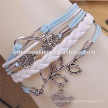 Multilayer moda pulseira fivela de cinto